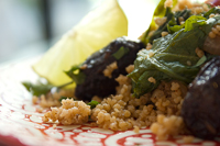 Curried Couscous with Shallots and Winter Greens